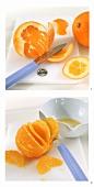 Orange schälen und filetieren