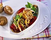 Thai vegetables with strips of turkey