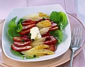 Asparagus and strawberry carpaccio