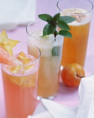 Three refreshing non-alcoholic fruit cocktails