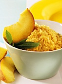 Peach and couscous cereal (for babies from 7th month)