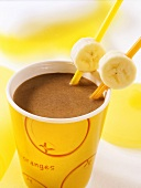 Chocolate milk with banana