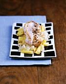 Redfish with pineapple sauerkraut