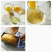 Making a loaf cake