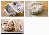 Making coarse rye bread