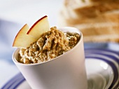 Sweet apple spread with wheatgerm
