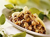 Adzuki beans with celeriac and walnuts