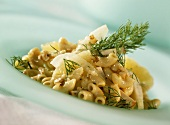 Pasta salad with tofu and fennel
