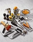 Lots of different kitchen utensils