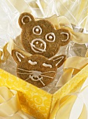 Animal face biscuits to give as a gift