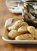 Amaretti & cantuccini (almond biscuits from Italy) with coffee