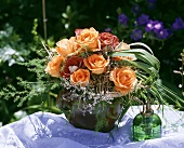 Small pretty bouquet of roses