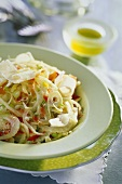 Fennel salad with raw ham and Parmesan