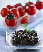 Tapenade (spicy paste of capers, black olives & mushrooms)