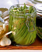 Lactic acid fermented green beans