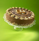 Chocolate cake with 'For your Golden Wedding' (in German)