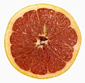 A slice of red grapefruit