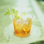 Orange juice with celery