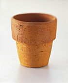 Terracotta flowerpot with broad rim