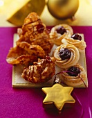 Crunchy Florentines and Swiss Amarena cherry cookies