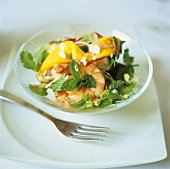 Shrimp and mango salad with mint and coriander