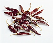 Chili peppers, variety 'Chile guajillo', dried