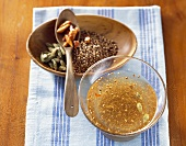 Spiced oil from India