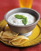 Raita (cucumber salad with yoghurt and mint, India)