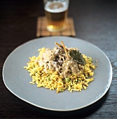 Lamb curry on bed of rice