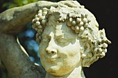 Bacchus (Roman) god of wine, stone figure