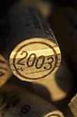 Weinkorken aus dem nördlichen Saale Unstrut, Deutschland