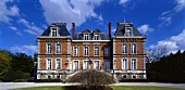 A dramatic sky above a stately home - Chateau Pol Roger in Epernay, Marne, France