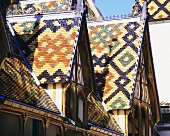 Roof of 'Hôtel Dieu' in Beaune (Côte de Beaune, Burgundy)
