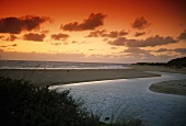 The mouth of Margaret River, Australia