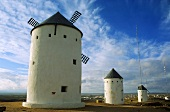 Windmills at Consuegra in La Mancha, Spain