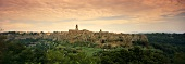 Pitigliano, wine valley in Tuscany, Italy