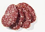 Salami aus Rehfleisch, roh