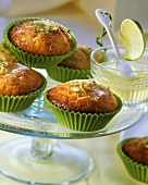 Lime and sour cream muffins