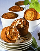 Coiled nut muffins