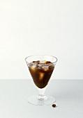 Espresso mit Wodka im Martiniglas