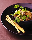 Lamb and apple stew with cinnamon and chick-peas