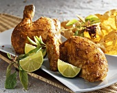 Tandoori chicken with lime (India)