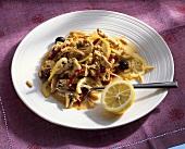 Fricassea di petto di pollo (fricassee of chicken  breast)