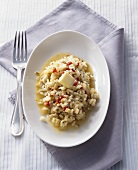Risotto al cavolo rapa (kohlrabi and pepper risotto, Italy)