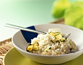 Courgette risotto with Parmesan