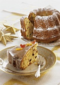 A piece of Advent cake and spiced gugelhupf