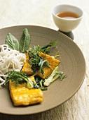 Cha ca (fish with dill, Hanoi, Vietnam)