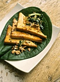 Dau hu soa ot (tofu with lemon grass, Vietnam)