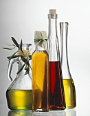 Bottles of Olive Oil and Raspberry Vinegar