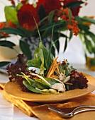 Sorrel and Lollo rosso salad